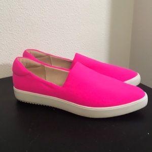 J/Slides NYC hot pink slip on shoes size 8.5 sneak